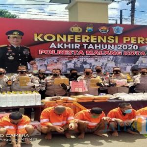 Rilis Akhir Tahun 2020, Polresta Malang Kota Terima 1251 Laporan Kasus