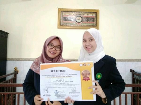 Tim Fotokatalis UIN Malang dari Jurusan Kimia yang berprestasi nasional. (Foto: istimewa)