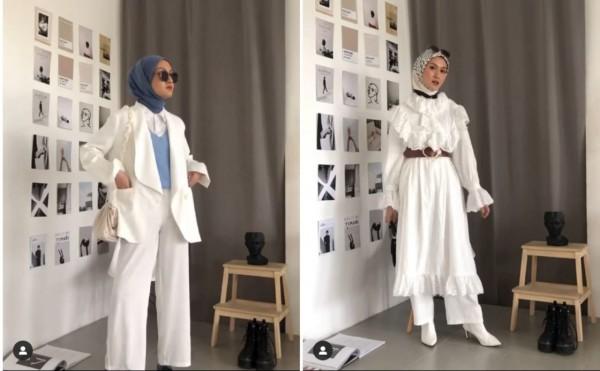 Inspirasi Korean Outfit Ideas Buat Kamu yang Berhijab Ala Hijabers Inas Rana