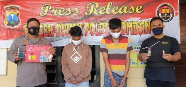 Edarkan Sabu ke Kampung-Kampung, Dua Pemuda di Jombang Dibekuk Polisi