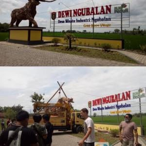 Pasang Patung Kayu Jati Gajah Purba, Dewi Ngubalan Terus Bersolek