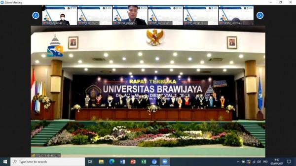 Suasana Rapat Senat Terbuka UB ke 58 yang dilakukan secara daring (Ist)