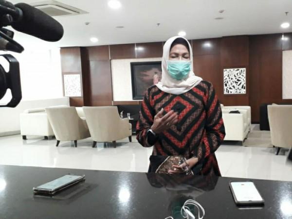 Walikota Batu, Dewanti Rumpoko saat ditemui di lantai 5 Balai Kota Batu, Jumat (8/1/2021)