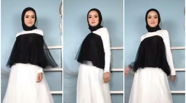 Styling rok tutu menjadi atasan ala hijabers. (Foto: Instagram @rahma.nura).