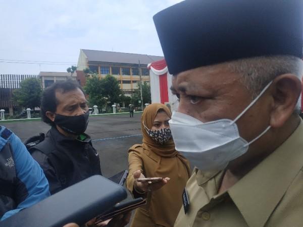 Bupati Kabuoaten Malang saat ditemui di Kodam 0818, Kepanjen, Selasa (12/1/2021)