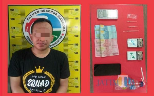 Berprofesi Sebagai Penjual Sabu, Pria di Tulungagung Ditangkap Polisi