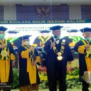 UIN Maliki Malang Kukuhkan Tiga Guru Besar Baru Dari Fakultas Saintek