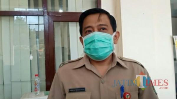 Bambang Triono Putro selaku Pelaksana Tugas (Plt) Dinas Kesehatan Kabupaten Kediri.(eko arif s/Jatimtimes)