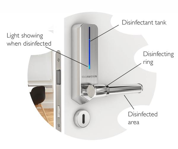 Keren, Gagang Pintu Bisa Basmi Virus dan Bakteri Otomatis