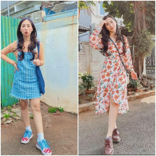 Tampil Lebih Ceria dengan Berbagai Dress Bermotif Ala Influencer Abel Cantika