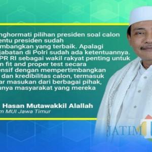 MUI Jatim Dukung Penunjukan Komjen Listyo Sigit Prabowo sebagai Calon Tunggal Kapolri