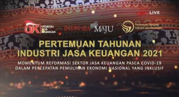 Pertemuan Tahunan Industri Jasa Keuangan (PTIJK) 2021, Jumat malam (15/1/2020) secara daring (Ist)