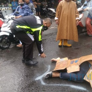 Alami Laka Tunggal, Warga Bululawang Meninggal di Jalan Gadang