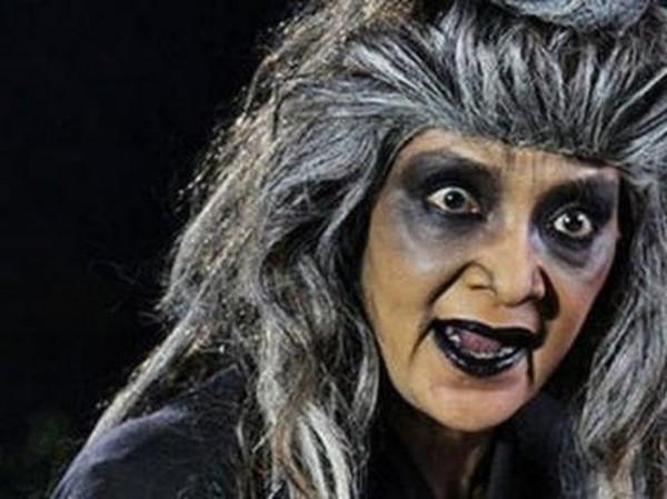 Farida Pasha, pemeran Mak Lampir di serial Misteri Gunung Berapi berpulang. (Foto: source google).