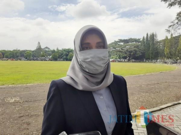 Pelaksana Tugas (Plt) Kepala Dinas Kesehatan Kota Malang Sri Winarni saat ditemui pewarta beberapa waktu lalu. (Foto: Dok. JatimTimes)