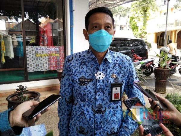 Sekda Kabupaten Malang, Wahyu Hidayat saat menjelaskan soal persyaratan bagi PMA dan PMDN di Kabupaten Malang (Foto : Ashaq Lupito / MalangTIMES)