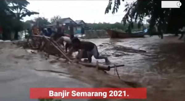 Banjir Semarang (Foto: YouTube Gercep Official)