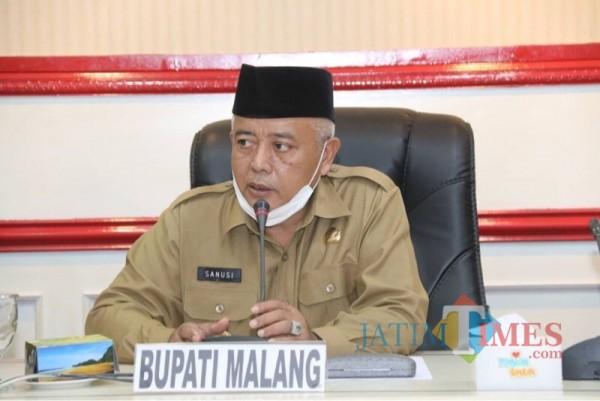 Bupati Malang Sanusi saat menjabarkan filosofi kinerja 5K di lingkungan Pemkab Malang (Foto: Istimewa)