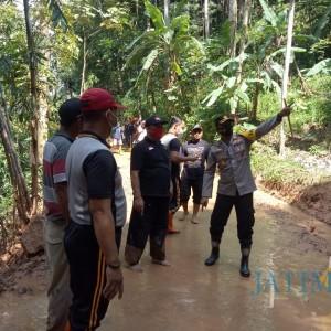 Kapolres Ngawi Kunjungi Lokasi Longsor di Sine