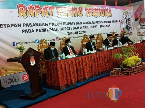 KPU Sumenep Tetapkan Fauzi-Nyai Eva sebagai Bupati dan Wakil Bupati Terpilih