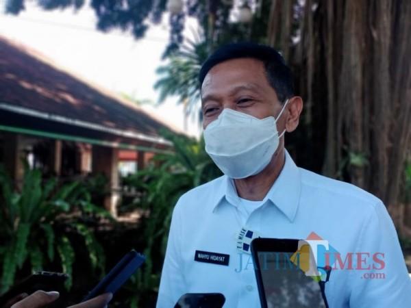 Sekda Kabupaten Malang Wahyu Hidayat saat menjelaskan mekanisme penerapan swab massal dijajaran ASN Pemkab Malang (Foto : Dokumen MalangTIMES)