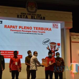 Petahana Santoso-Tjujuk Ditetapkan Sebagai Pemenang Pilkada Kota Blitar