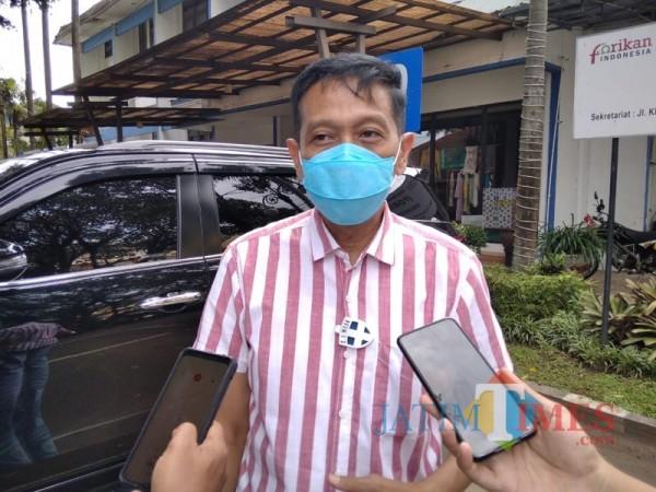 Sekda Kabupaten Malang Wahyu Hidayat saat menjelaskan wacana PPKM jilid II (Foto : Ashaq Lupito / MalangTIMES)
