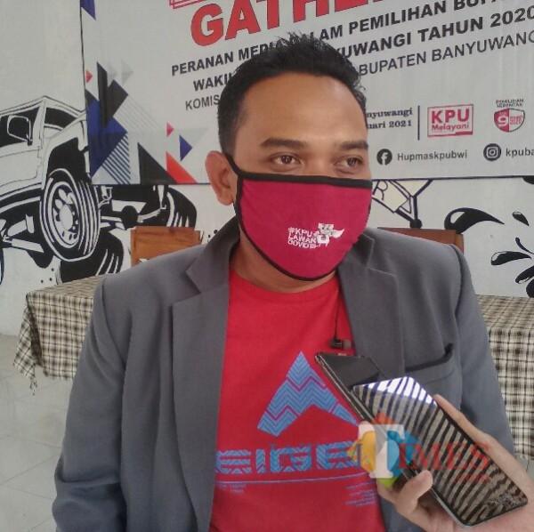 Dian Purnawan, Komisioner KPU kabupaten Banyuwangi Nurhadi Banyuwangi Jatim Times