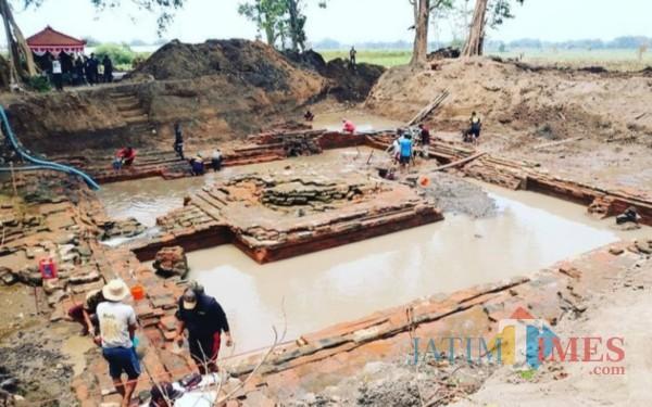 Ekskavasi Bangunan Utama Petirtaan Sumberbeji Rampung, Ini Hasilnya