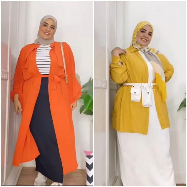Inspirasi outfit warna cerah untuk cewek bertubuh gemuk. (Foto: Instagram @yasmenwagdy).