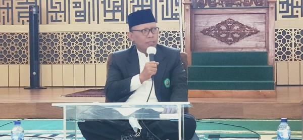 Rektor Unisma, Prof. Dr. H. Maskuri, M.Si yang memberikan sambutan dalam peresmian (Ist)