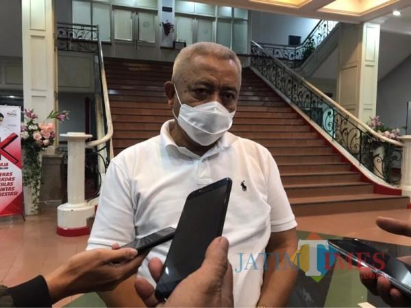 Bupati Malang Sanusi saat menjelaskan mekanisme pencanangan vaksinasi covid-19, Rabu (27/1/2021). (Foto: Ashaq Lupito/JatimTIMES)