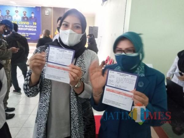 Usai Disuntik Vaksin, Ini yang Dirasakan Wakil Wali Kota Madiun Inda Raya