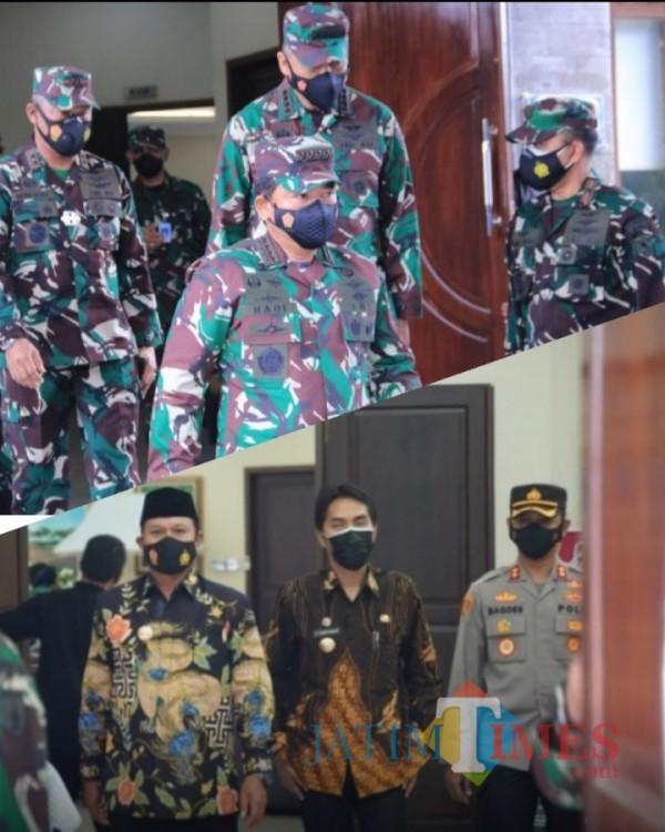 Wali Kota Maidi bersama beberapa pimpinan Daerah dan Kapolres Madiun.