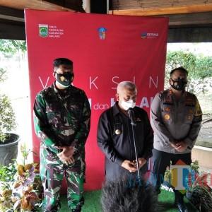 Vaksinasi Kabupaten Malang Berlangsung, Bupati Sanusi Pastikan Aman dan Halal