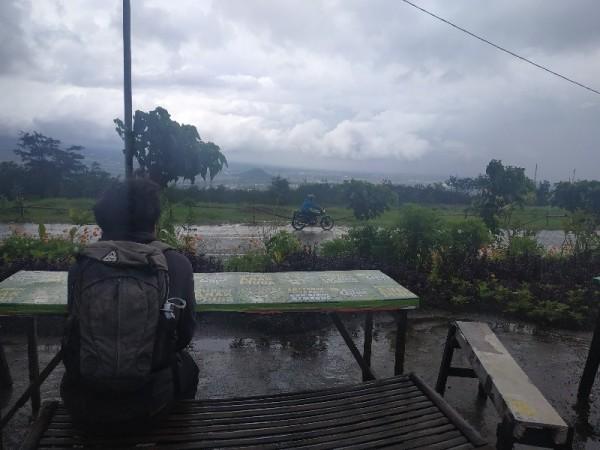 Foto : Pemandangan rest area Jalur Lintas Barat (Jalibar) yang terletak di Desa Oro-oro Ombo, Kecamatan Batu, Batu, Jawa Timur, Sabtu (30/1/2021)