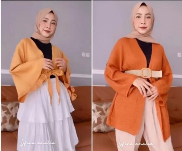 Inspirasi style buat cewek bertubuh kurus ala hijabers Ijfina Amalia. (Foto: Instagram @ijfinaamalia).