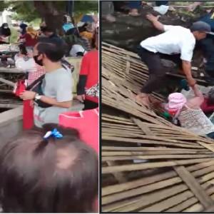 Viral, Video Penjual Soto di Atas Sungai Ambruk saat Banyak Pengunjung Datang