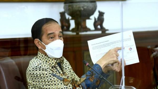 Rapat terbatas terkait PPKM, Jumat (29/1/2021)  (Foto :  Biro Pers Setpres)