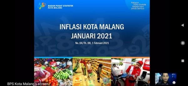 Rilis inflasi Kota Malang tahun 2021 oleh BPS Kota Malang (Ist)