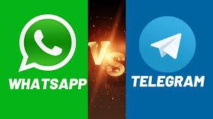 WhatsApp vs Telegram (Foto: Mega Interesting)