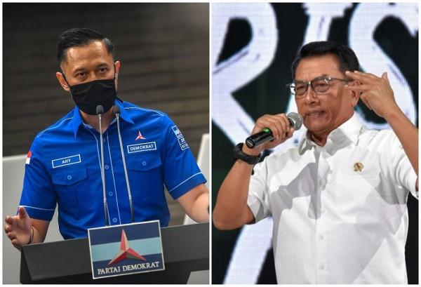 AHY vs Moeldoko (Foto: Pikiran Rakyat)