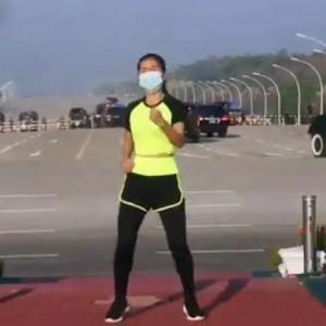 Viral, Lagu Ampun Bang Jago Iringi Guru Penjas Aerobik di Tengah Kudeta Militer Myanmar