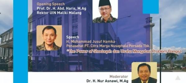 Website seminar bertajuk The Power of Shadaqoh dan Usaha Mengatasi Problem Bangsa, Selasa (2/2/2021). (Ist)