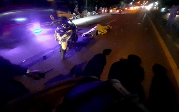 Motor korban sesaat setelah peristiwa kecelakaan terjadi. (Istimewa)