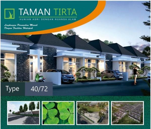 Unit tipe 40 dengan luas tanah 72 m²di Taman Tirta, nampak berdesain modern dan terlihat elegan (Ist)