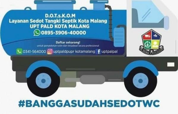 Ilustrasi pelayanan penyedotan lumpur tinja UPT PALD DPUPRPKP Kota Malang (Ist)