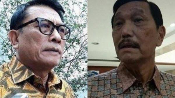Moeldoko dan Luhut Binsar Pandjaitan (Foto: Tribunnews)