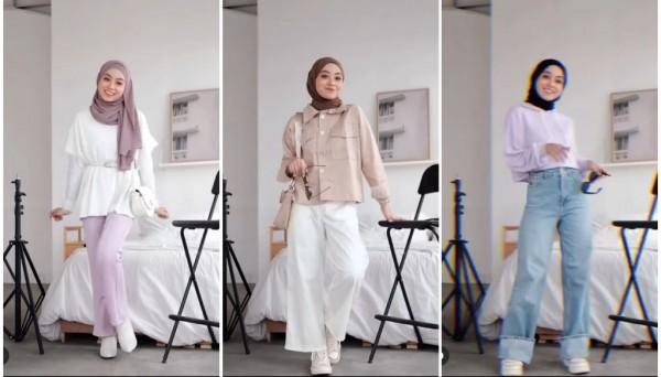Inspirasi outfit untuk sambut weekend ala hijabers Meirani Amalia. (Foto: Instagram @meiraniap).