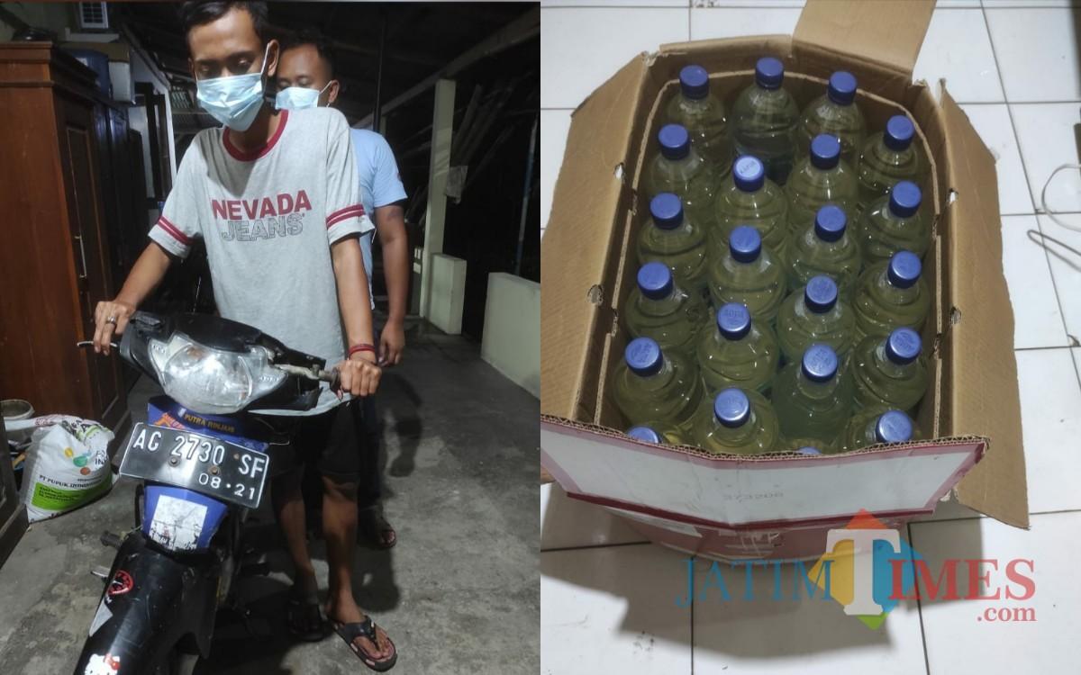 Wow! Dua Mahasiswa Ditangkap saat COD Puluhan Botol Ciu dengan Petugas